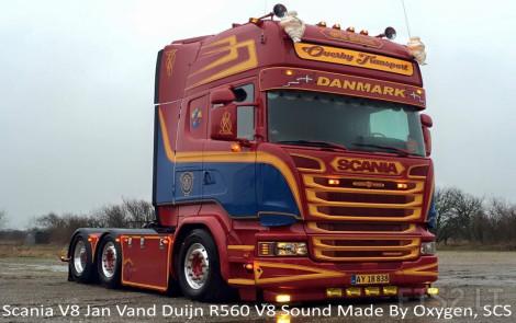 Scania Jan Van Duijn R560 V8 Sound V.13.0