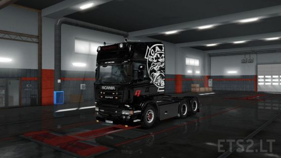 TRANSBOKES Scania Vabis Black Custom Paint