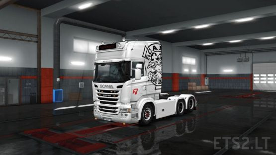 TRANSBOKES Scania Vabis White Custom Paint