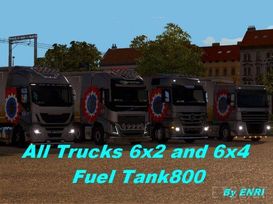 All trucks 6×2, 6×4 Fuel Tank 800 by enri