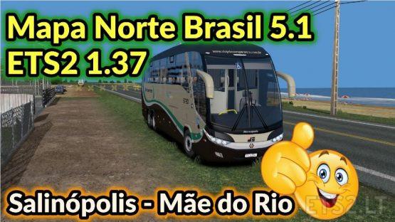 BRAZIL NORTH MAP 5.1 + MOD BUS