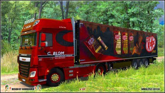 Skin Trailer Krone Coolliner KitKat Senses