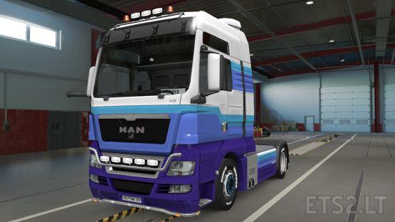 MAN TGX Truck Paintjob Skin + SCS Box Trailer paintjob skin Combo