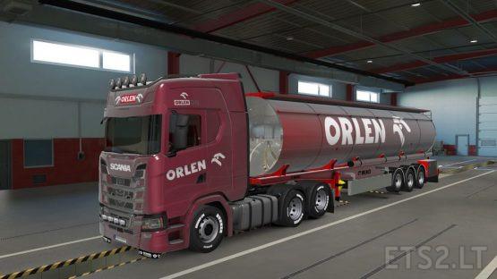 Euro Truck Simulator 2 – Orlen Skin for Menci Cistern + Scania S