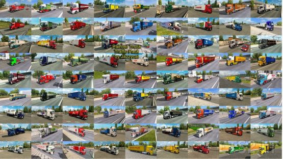 Painted Truck Traffic Pack by Jazzycat v10.5