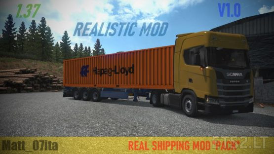 REAL SHIPPING MOD AND REAL CARGO PACK V1.0