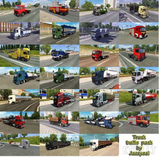 Truck Traffic Pack by Jazzycat v4.6