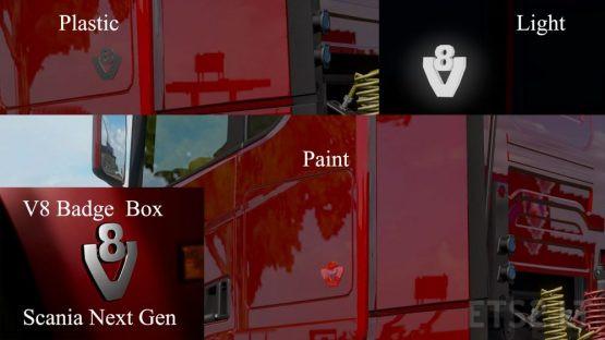 V8 Badges Box Scania Next Generation