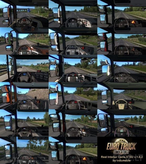 Real Interior Cams ETS2 v 1.6.2