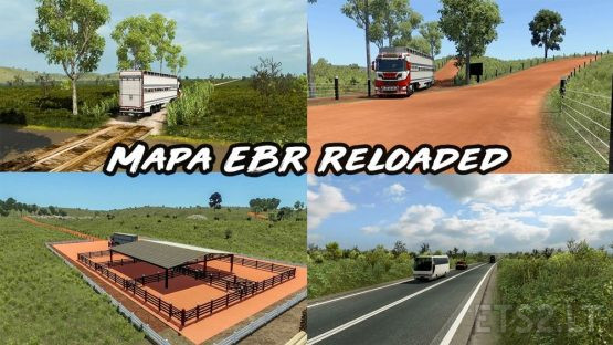 Mapa EBR 1.73 Reloaded – ETS2 1.38