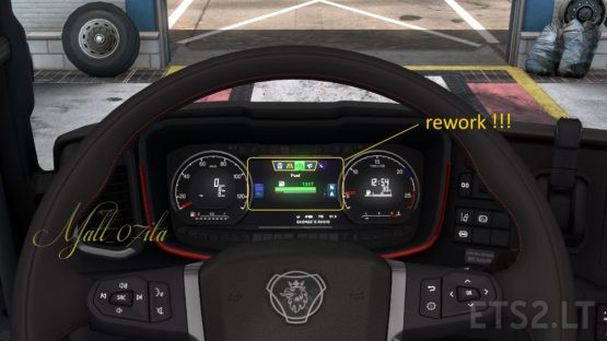 New Dashboard for Scania NG