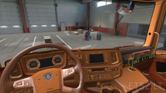 Brown & Alcantara Interior – Scania NG