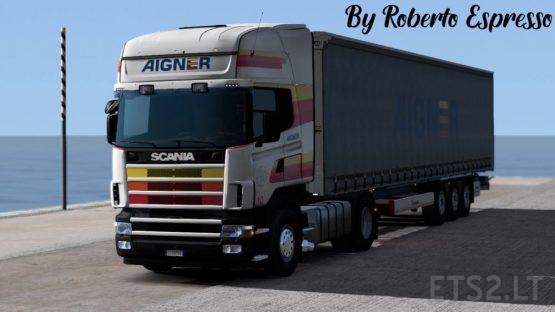 Aigner transporte skin pack #1 (scania 4 series+ scs trailer+ krone profiliner)