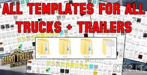 All Template for ETS2 (Trucks + Trailers)