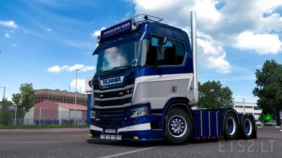 Changeable metallic Skin for Scania R