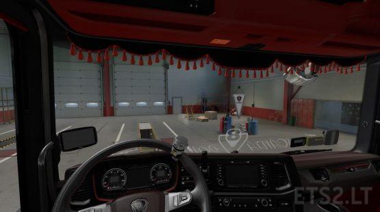 Scania Red Interior