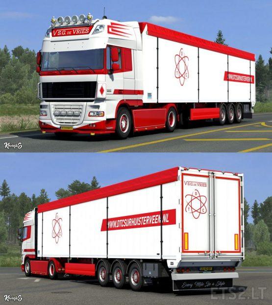 DAF XF 105 S.G. De Vries Skin Pack by KoviqkS (Update)