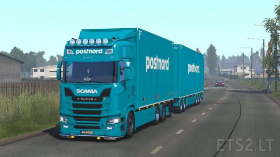 postnord tandem skin by kRipt for Scania NG