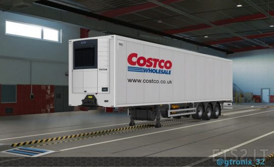 Costco Curtainsider & Refrigerated 40′ trailers