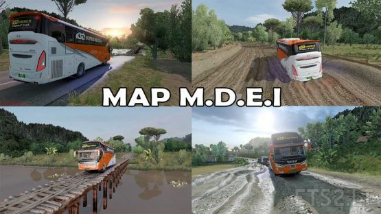 """Map """"M.D.E.I """" Reworked by RIZKY ARIFIN – ETS2 1.30 to 1.38"""