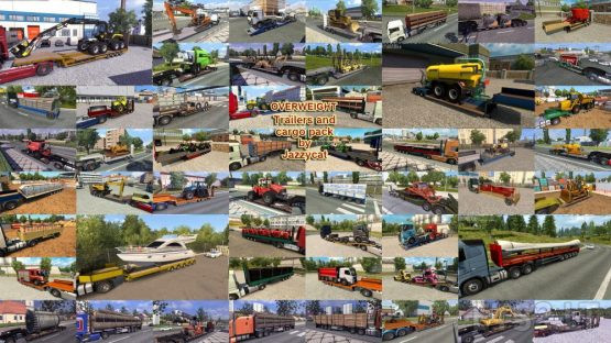 Overweight Trailers and Cargo Pack by Jazzycat v9.0