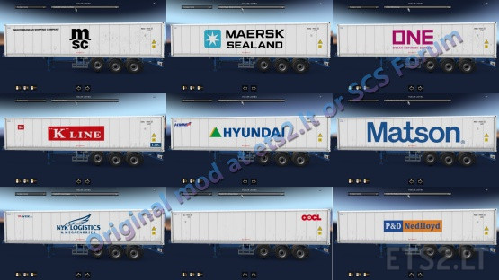 Reefer Container Cargo Pack V2.2 by Satyanwesi ETS2 1.38