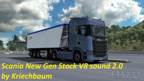 Scania New Gen Stock V8 sound mod