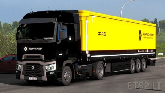 Renault T F1 Team + Trailer