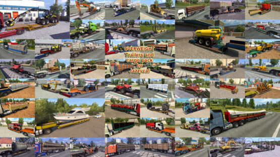 Overweight Trailers and Cargo Pack by Jazzycat v9.3