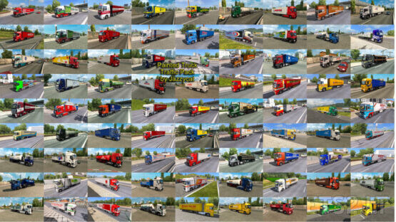 Painted Truck Traffic Pack by Jazzycat v12.0