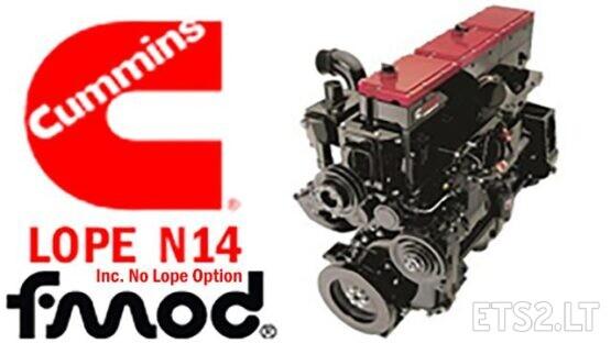 CUMMINS N14 LOPE IDLE ENGINE SOUND 1.39