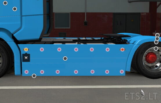 Old-School sideskirts for Scania Next-Gen 1.0