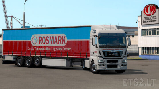 ROSMARK skinpack for MAN TGX euro 6 and its own trailer