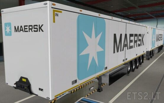 SKIN OWNED TRAILERS SCS MAERSK WHITE 1.40