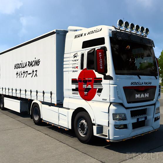 MAN TGX Euro6 Godzilla Racing Combo Skin