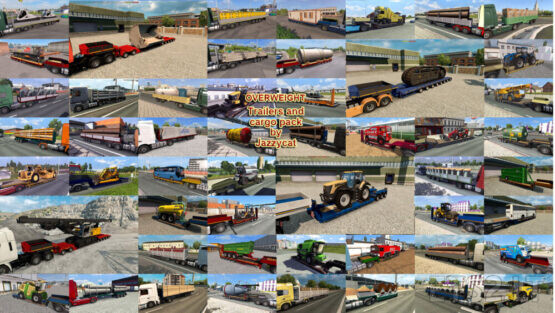 Overweight Trailers and Cargo Pack by Jazzycat v9.5.3