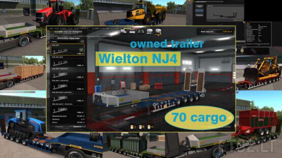 Ownable overweight trailer Wielton NJ4 v1.7.6
