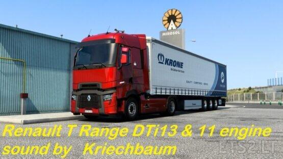Renault T Range DTi11 & 13 sound mod 2.1