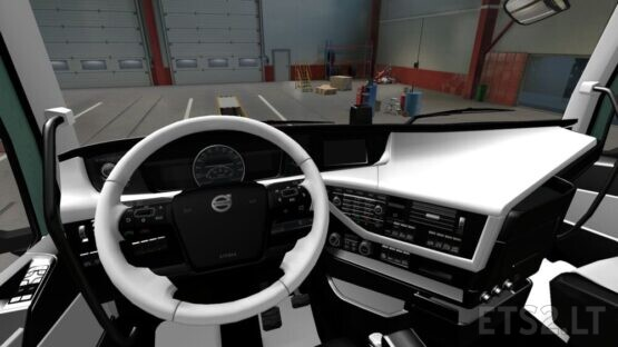 Volvo FH 2012 Black White Interior