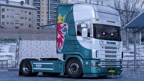Changeable metallic Skin for Scania 4 Series by RJL