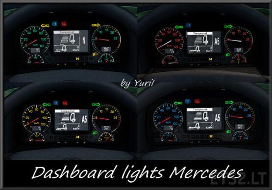 Dashboard Lights Mercedes 1.2