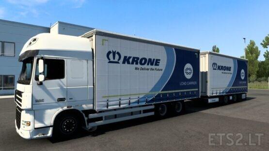 Tandem Krone Daf XF 105 (Vad&k), Krone Man TGA/TGX/TGX E6 (Madster), Scania NG P/G/R/S (Eugene) (1.40.3)