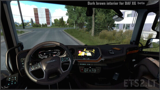 Dark brown interior for DAF XG 0.8