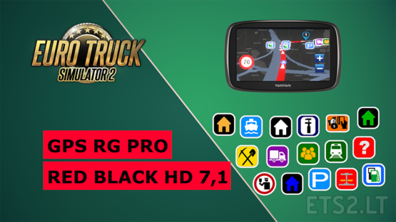 GPS RG PRO RED BLACK HD 7,1