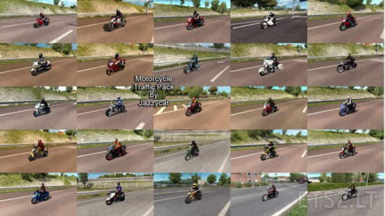 Motorcycle Traffic Pack by Jazzycat v3.8.7