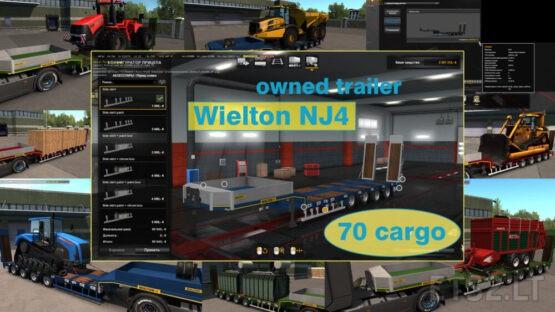 Ownable overweight trailer Wielton NJ4 v1.7.7