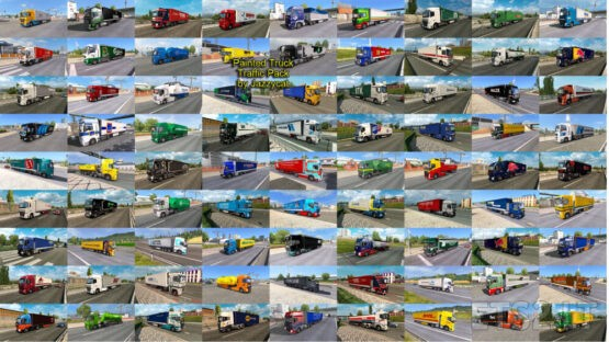 Painted Truck Traffic Pack by Jazzycat v13.1