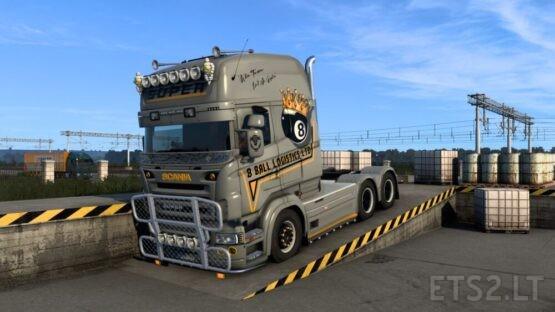 Scania RJL Topline 8 Ball Logistics Skin