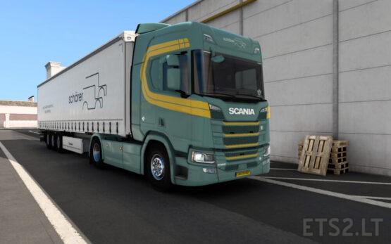 Shärer Transport AG skin pack for Scania R and Krone Profiliner v1.0