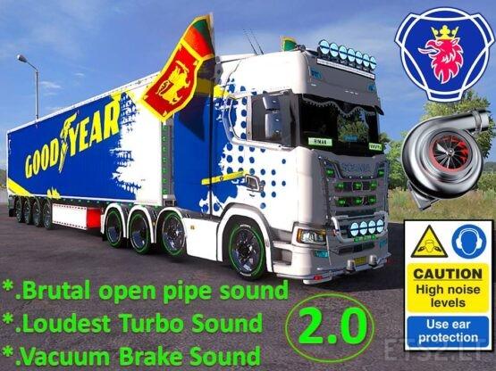 V8 Open pipe Brutal Sound Mod 2.0